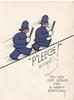 P'LEECE! ACCEPT MY VERY BEST WISHES FOR A HAPPY BIRTHDAY  caricature of 2 policemen walking uphill to right