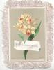 WITH AFFECTIONATE REGARDS  on white plaque below yellow daffodils