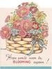 HOPE YOU'LL SOON BE BLOOMING AGAIN! floral basket