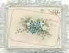 AFFECTIONS offering on fawn plaque with ginkgo leaves & forget-me-nots