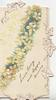 LIVE LONG AND HAPPY, yellow primroses diagonally across front of card, stylized ivy leaves