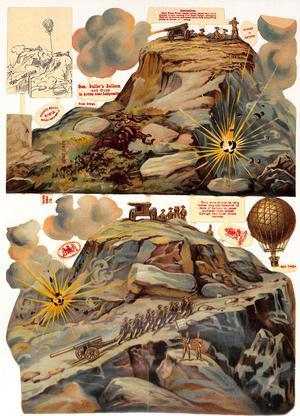 GENERAL BULLER'S BALLOON AND GUNS IN ACTION NEAR LADYSMITH
