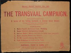 MODEL RELIEF SERIES,THE TRANSVAAL CAMPAIGN labelled also as GIGANTIC RELIEF