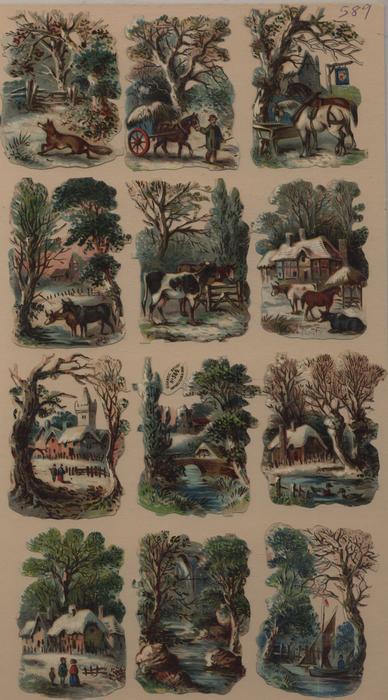 rural winter scenes