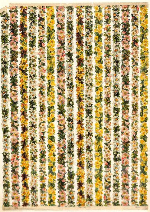 strips of flowers