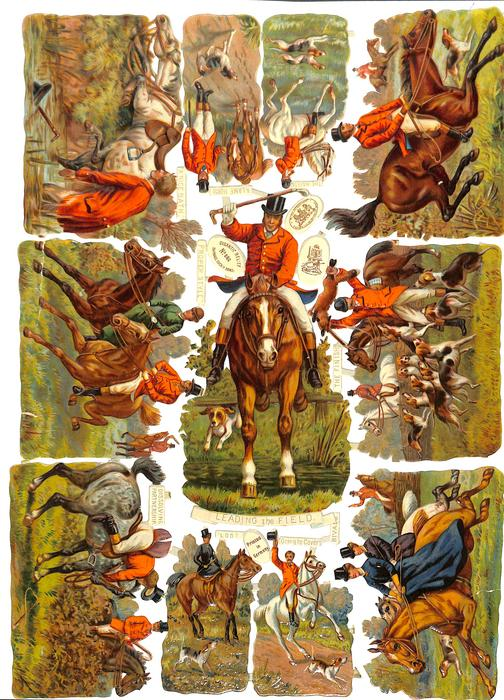 LEADING THE FIELD, fox hunting scenes