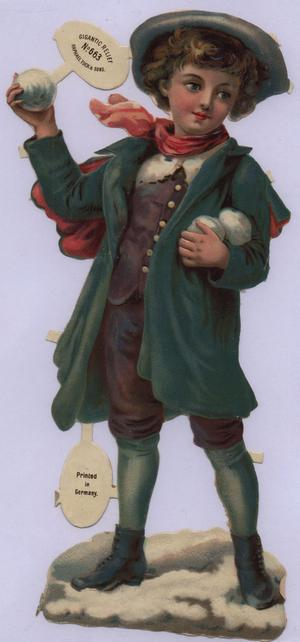child with snowball