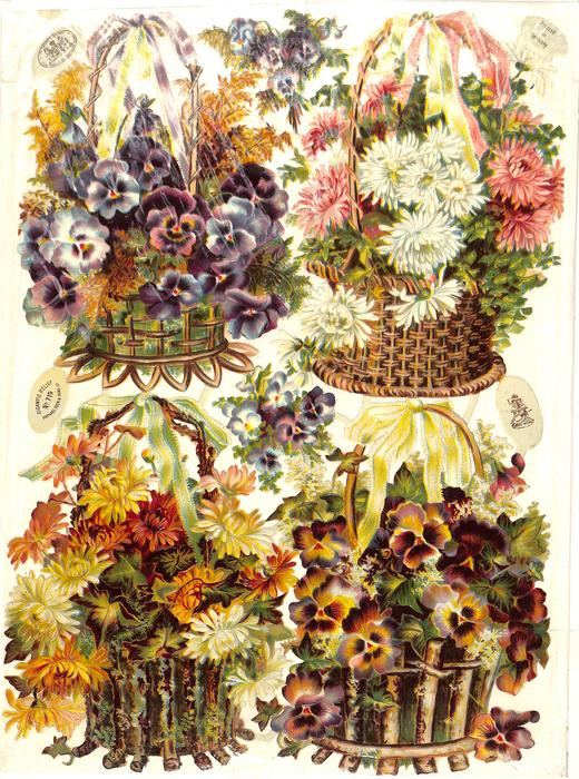 flowers in baskets