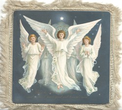 GLORY TO GOD IN THE HIGHEST....GOODWILL TOWARDS MEN 5 angels in white