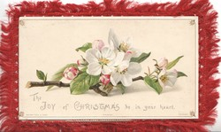 THE JOY OF CHRISTMAS BE IN YOUR HEART, branch of apple blossom