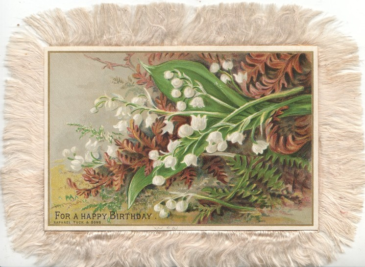 FOR A HAPPY BIRTHDAY lilies-of-the-valley & brown ferns