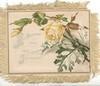 ALL CHRISTMAS TIDE MAY JOY ABIDE yellow rose & bud