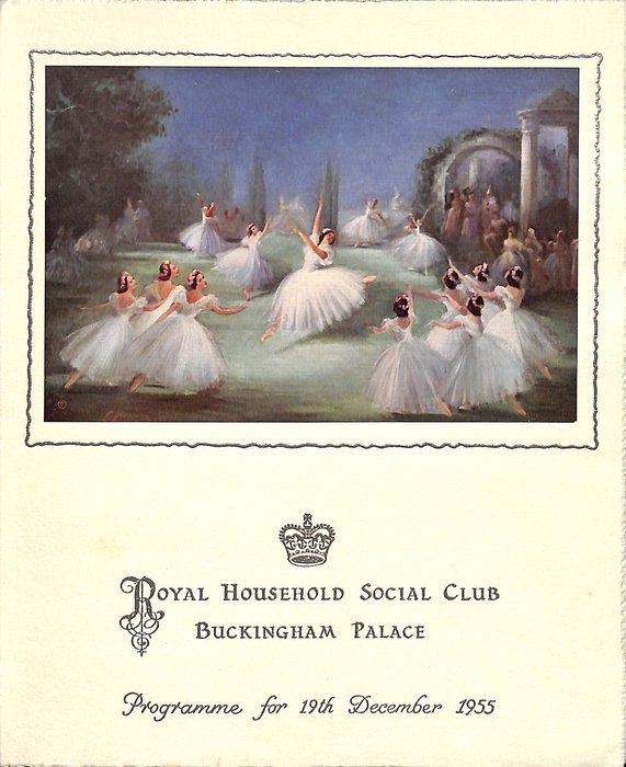 1955 PROGRAMME FOR 19TH DECEMBER ballet dance in process