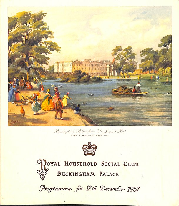 1957 PROGRAMME FOR 12TH DECEMBER 1957
