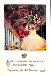 1959 PROGRAMME FOR 16TH DECEMBER 1959, two dolls dancing in large hall