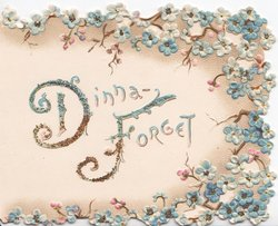 DINNA FORGET(D&Fglittered & illuminated) multiple small sprays of blue forget-me-nots