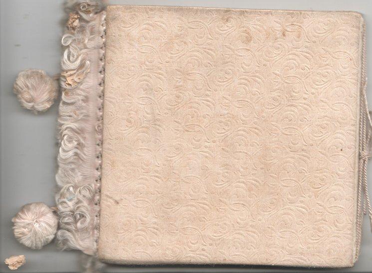 A JOYUL EASTER GREETING white fringes & tassel of thread