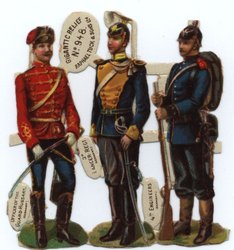 SOLDIERS OF RUSSIA, SPAIN, GERMANY, RUSSIA, GERMANY two strips of Russia and Germany