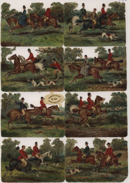 horses, hounds and fox hunting scenes