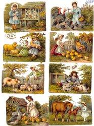 children with farmyard animals
