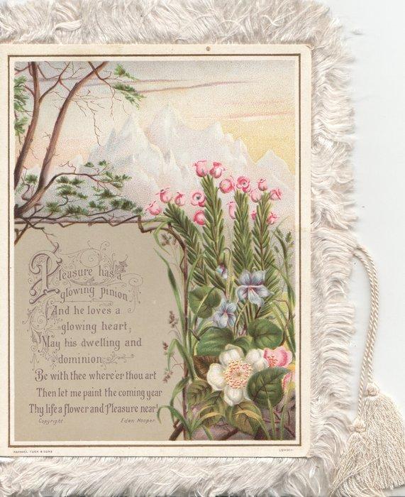 PLEASURE HAS A GLOWING PINION....FLOWER AND PLEASURE NEAR heather & anemones