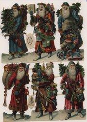 Santas with toys