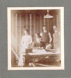 author Grace C. Floyd (standing left) at Raphael House, Moorfields City