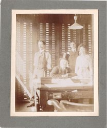 author Grace C. Floyd (standing right) at Raphael House, Moorfields City