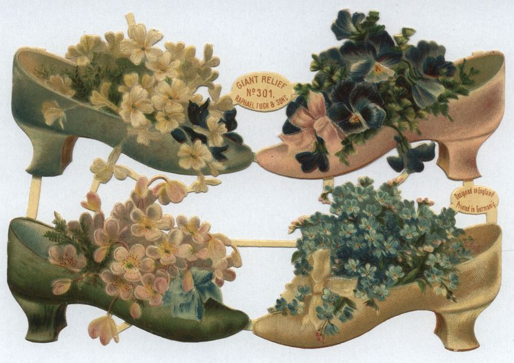 shoes filled with flowers