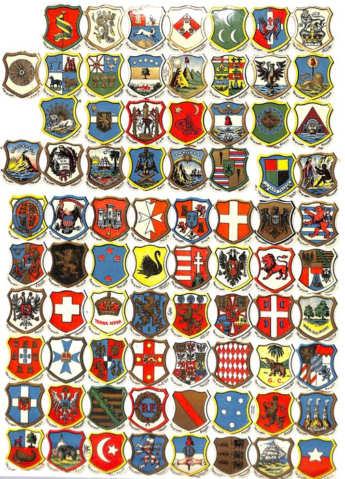 heraldic coats of arms, various countries