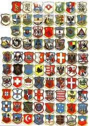 heraldic coats of arms, various countries