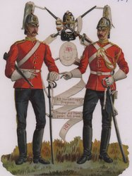 6TH INNISKILLINGS DRAGOONS. TROOPER AND TRUMPETER, FULL DRESS