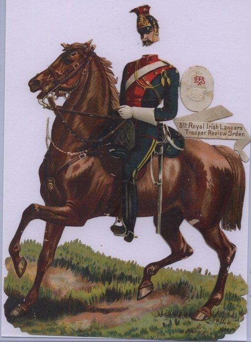 5TH ROYAL IRISH LANCERS TROOPER, REVIEW ORDER