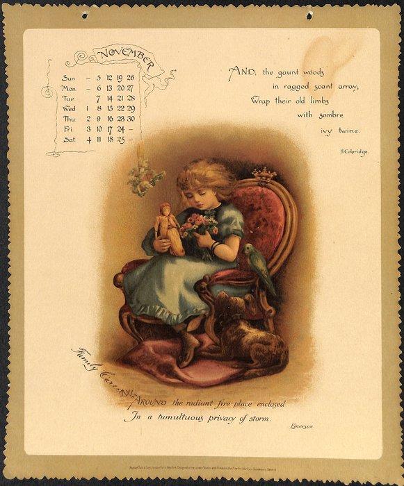 A YEAR'S SUNSHINE CALENDAR FOR 1893