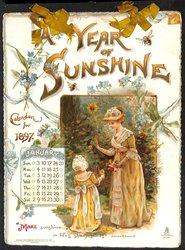 A YEAR OF SUNSHINE CALENDAR FOR 1897