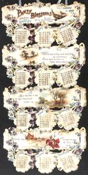 PANSY BLOSSOMS CALENDAR FOR 1898