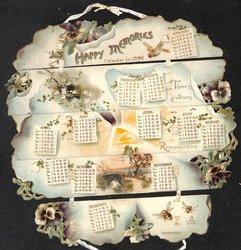 HAPPY MEMORIES CALENDAR FOR 1898