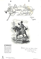 FOR QUEEN AND COUNTRY CALENDAR FOR 1900