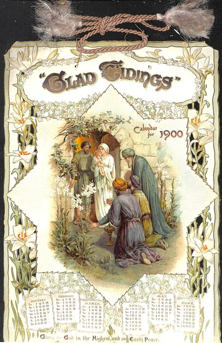 GLAD TIDINGS CALENDAR FOR 1900
