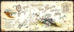 CE QUE DISENT LES FLEURS CALENDRIER POUR 1901