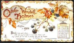 OLIVER WENDELL HOLMES CALENDAR FOR 1901