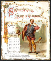 THE SHAKESPEARE HERO & HEROINE CALENDAR FOR 1901