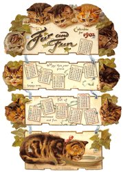 FUR AND FUN CALENDAR FOR 1902