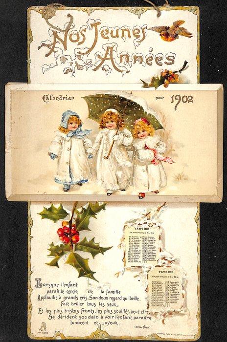 NOS JEUNES ANNEES CALENDRIER POUR 1902