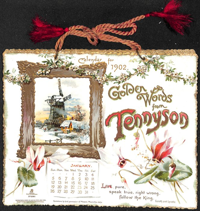 GOLDEN WORDS FROM TENNYSON CALENDAR FOR 1902