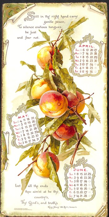 THE GLORY OF THE YEAR SELECTIONS FROM SHAKESPEARE CALENDAR FOR 1902