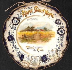 HOME SWEET HOME CALENDAR FOR 1903