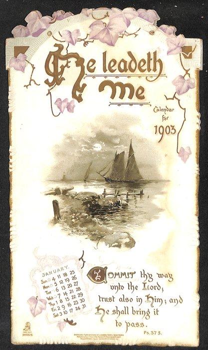 HE LEADETH ME CALENDAR FOR 1903