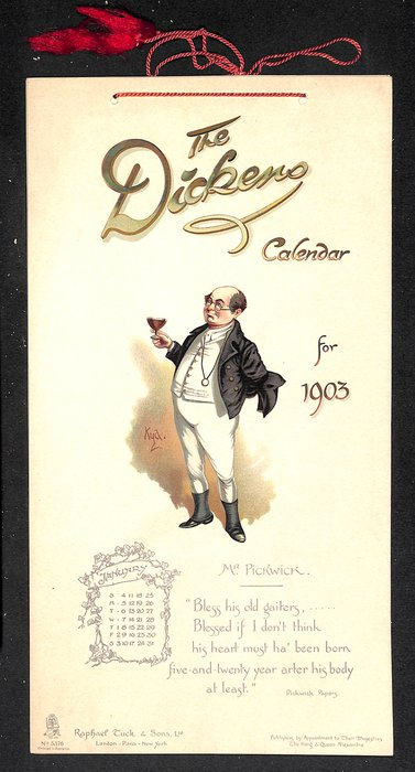 THE DICKENS CALENDAR FOR 1903