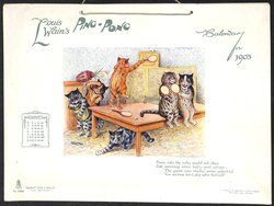 LOUIS WAIN'S PING-PONG CALENDAR FOR 1903